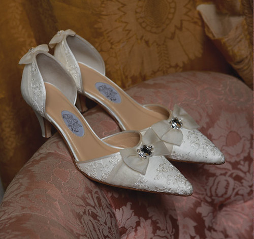 Glamorous wedding shoes from Diane Hassall.
