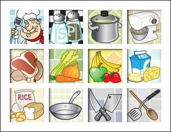 free Jacques Pot Gourmet Slot game symbols