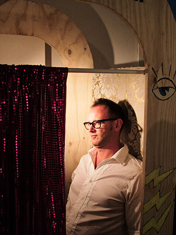 Portrait of Malcolm Smith, curator of 'The Psychic Photobooth 2009