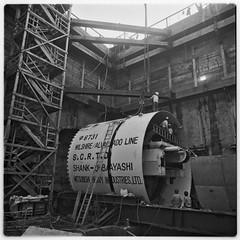 SCRTD - 2nd Half of Drilling Shield RTD_1995_14 (Metro Transportation Library and Archive) Tags: construction metrorail rtd scrtd dorothypeytongraytransportationlibraryandarchive southerncaliforniarapidtransitdistrict
