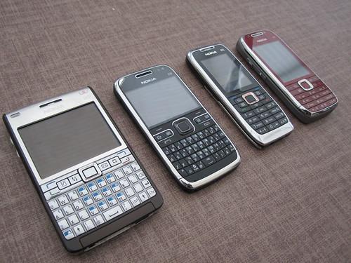 Nokia e61i, e72, e51, e75