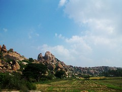 607 Rocks, Hampi (Bennie Lava) Tags: india ricepaddies karnataka lanscape hampi