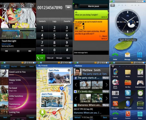 Samsung bada Screens