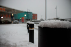 Bollards (.:shk:.) Tags: park uk england snow station weather britain oldham sainsburys petrol karim shk uksnow shkarim sogir sogskarim canoneos500dshkarim sogskarimsogirkarim