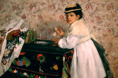 Edgar Degas, Portrait of Mlle. Hortense Valpin...