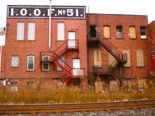 Oddfellows, Brownsville, PA  (trackside)