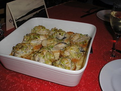 Baked Oysters with Leeks, Cream & Parmesan