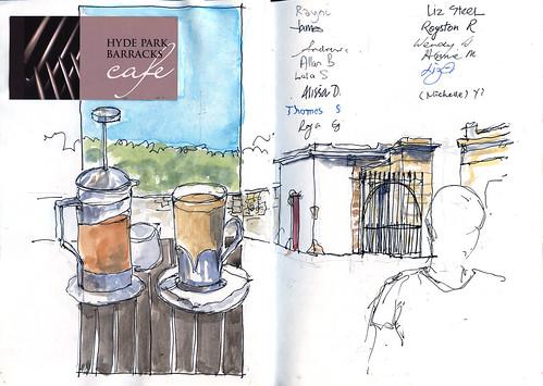 100227 Sketchcrawl 20_03 Meeting Cafe