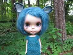 Hazie Deer in Headlights (Lawdeda ) Tags: she teal awesome inspired ears story end what blythe wants kathie custom olivas gets ebl hazie sammydoe fairyflip