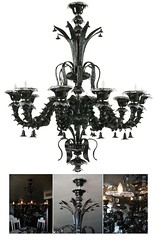 "4078 BLACK HAND BLOWN GLASS CHANDELIER • <a style=""font-size:0.8em;"" href=""http://www.flickr.com/photos/43749930@N04/5743687411/"" target=""_blank"">View on Flickr</a>"