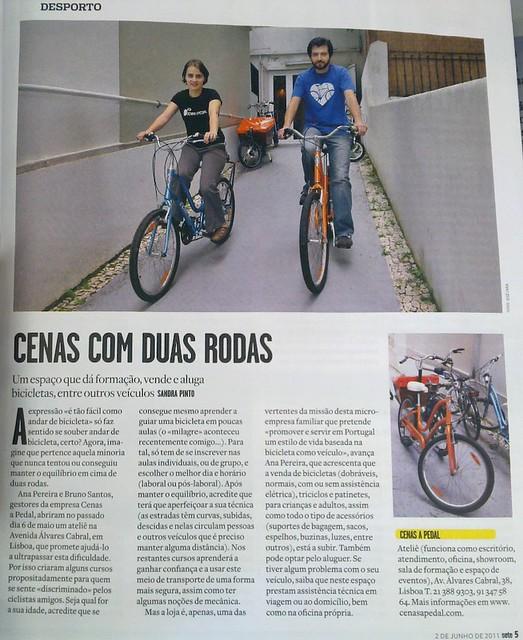 """""""Cenas com duas rodas"""" - clipping Cenas a Pedal na revista Visão"""