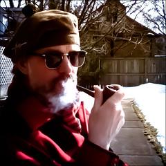 Affectation (KennethMoyle) Tags: sun beard smoke pipes pipe smoking smoker pipesmoker