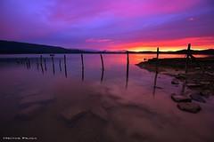 Araba dreams (Hector Prada) Tags: amanecer pantano cielo nubes reflejos invierno alava paisvasco sunrise lake sky clouds winter awesome basque country hectorprada ship village