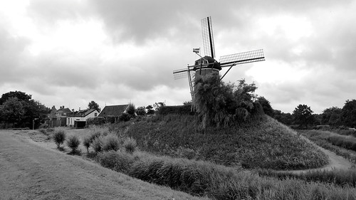 Windmill in Brouwershaven, Netherlands