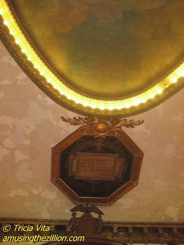 A Government of the People, By the People, For the People--Lincoln. Ceiling of City Council Hearing Room, City Hall, NYC. Photo © Tricia Vita/me-myself-i via flickr