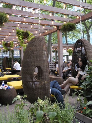 Cocoon Chairs, Bryant Park