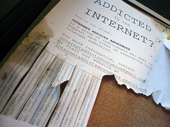 addicted to the internet? flyer
