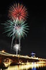 DSC_0125 (georgerocheleau) Tags: arizona reflection water night fireworks fourthofjuly tempe tempetownlake