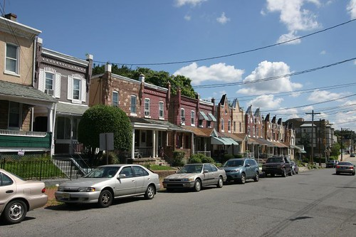 Row homes in Chester, Pennsylvania.