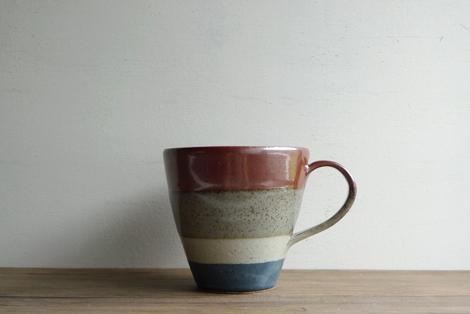 益子焼掛分けマグカップ(2)