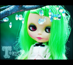 diamonds are a girl's best friend (TURBOW) Tags: toxic japan doll hokkaido dot amaryllis blythe neo limited edition otaru takara eurotrash cwc greenhair rbl primadolly