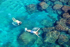 Swimming (HBM) (klausthebest) Tags: blue light sea italy colour nature rock swimming swim italia liguria bluesea hbm blueribbonwinner moneglia topshots mywinners abigfave worldbest theperfectphotographer dragondaggerphoto
