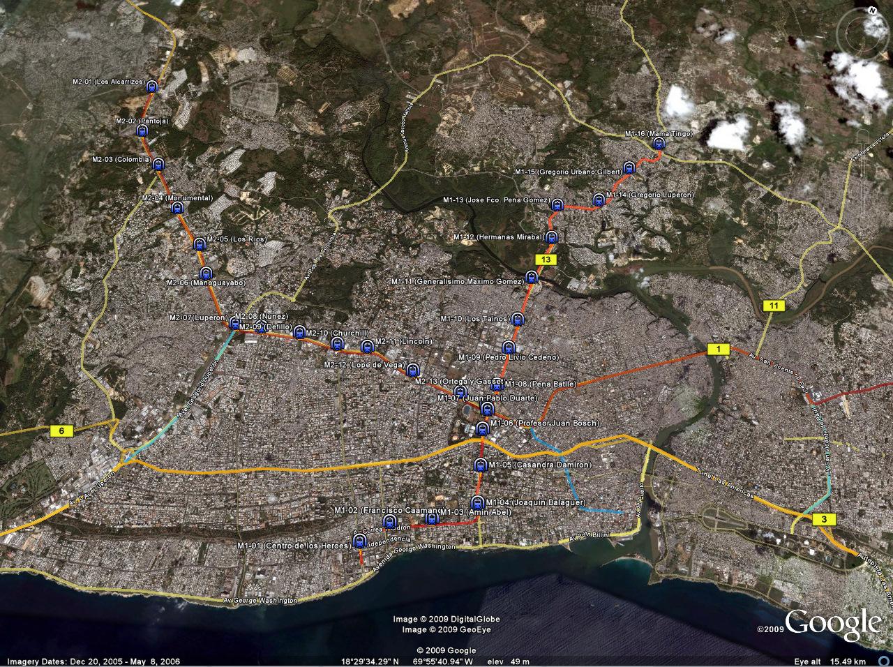 Santo Domingo Metro Map.Santo Domingo Public Transport Page 8 Skyscrapercity