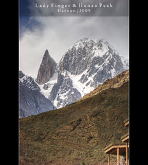 Lady Finger (Haroon Mustafa) Tags: travel blue camping pakistan summer camp sky snow travelling beauty exposure eagle sony visit hills kkh rockclimbing hunza hdr height allah summers rockclimb gilgit haroon treking ladyfinger eaglenest rockclimber vocations karakuram w90