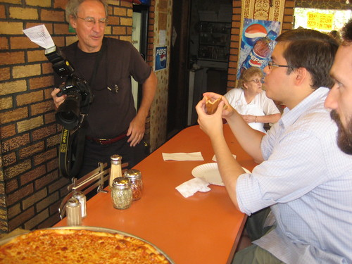 Johns Pizzeria and our photog