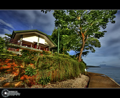 Top View | Explore (rev_adan) Tags: trip travel trees red sea house green beach water grass clouds canon island eos sand tour terrace philippines wide explore soil walkway medina camiguin hdr mindanao gravels uwa resthouse duka 40d pinoykodakero litratistakami garbongbisaya