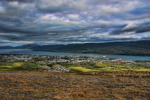 Akureyri séð frá Fálkafelli