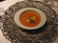 Gary Danko - Roasted bell pepper gazpacho amuse