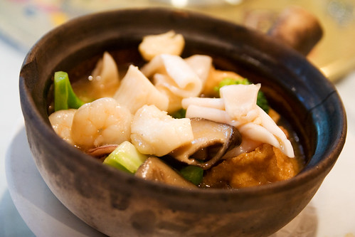 tofu casserole with seafood