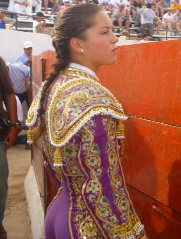 La guapa novillera colombiana Rocío Morelli