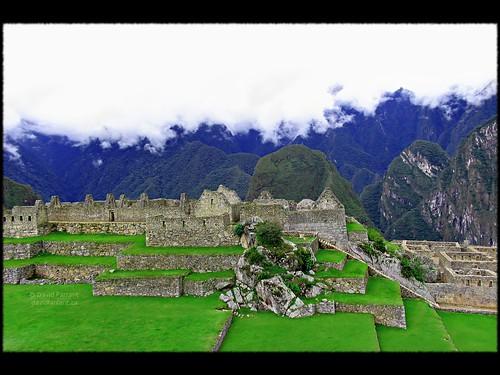 split-level at Machu Picchu