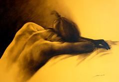 akt / nude by Eduardo Sosa Ortiz - rudka na papieri