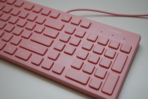 i-rocks KR-6401 粉紅巧克力鍵盤 - 04
