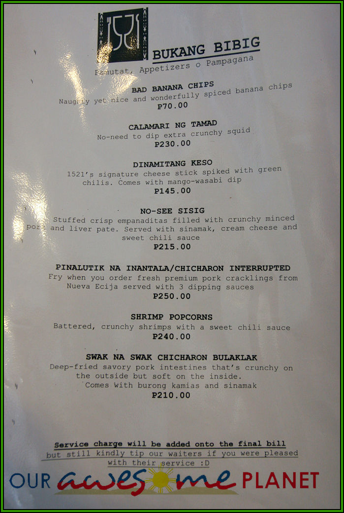 Mr Poon Restaurant Menu
