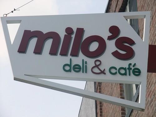 Milo's Deli Sign