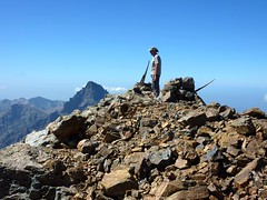 Georges au sommet de la Punta Minuta