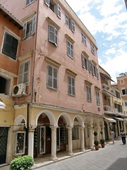 ,  .  - Corfu, Nik.Theotoki str (Corfu Town) Tags: buildings arcade greece corfu kerkyra oldtown