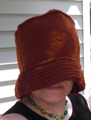 felted knitted fo buckethat chicknits
