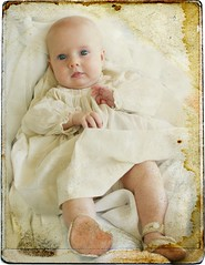 Great Grandmothers Baby Dress ('Playingwithbrushes') Tags: family baby grandbaby