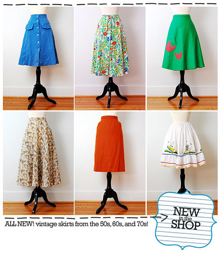 Click to shop vintage skirts