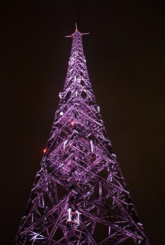 Gliwice Radio Tower (Radiostacja Gliwicka) at Night #2