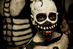 Skeleton Boy (Dave Schreier) Tags: new boy face festival skeleton guinea scary eyes painted culture tribe papua cultural