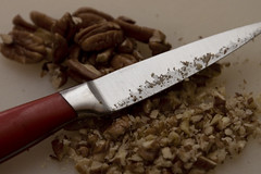 Chopping pecans is a pain in the ass