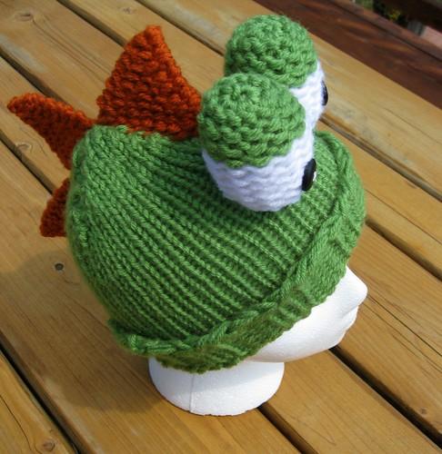 Green dino hat