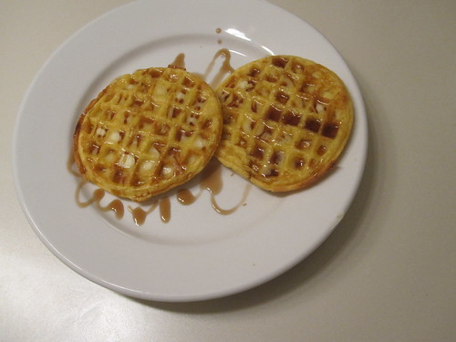 Waffles for dessert