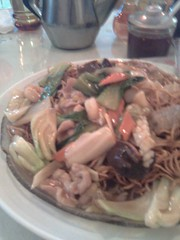 Singapore Noodles with Seafood and Veggies